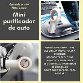 Mini purificador de auto
