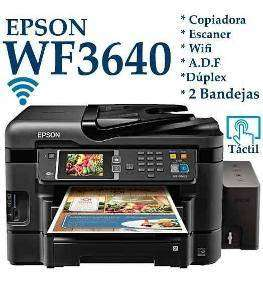 copiadora, escaner, impresora epson workforce 3640