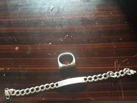 se vende anillo de plata y esclava