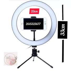 Aros de Luz LED 3 tipos de luces con regulador de intensidad Trípode mas Accesorios para colocar dispositivos