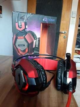 Auriculares Gamer NOGA Stormer Conquer + Adaptador