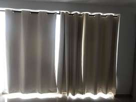 vendo cortinas color beige (tres)