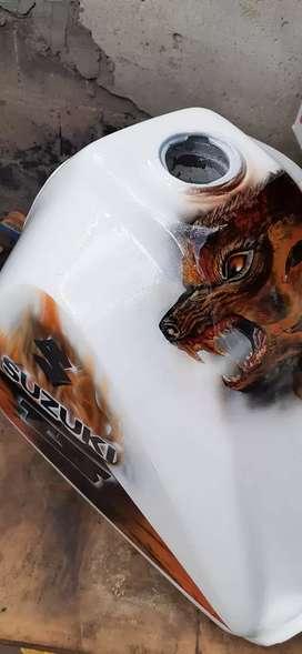 Pintura y aerografias de motos