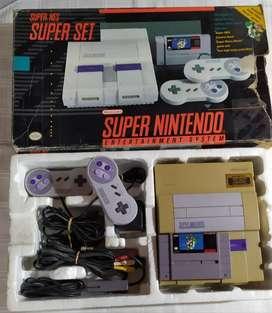 Consola Super Nintendo Snes + Juego Super Mario World