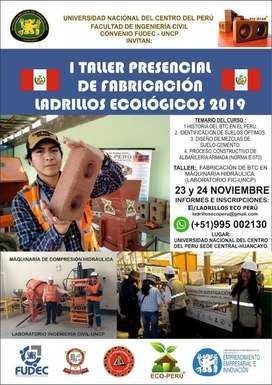 I Curso Taller Ladrillos Ecológicos 2019