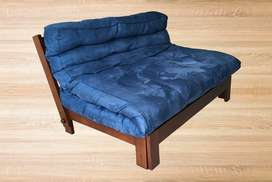 Sofacama tipo Futón Azul 3 puestos