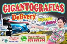 Gigantografia Delivery en alta calidad 1440 dpi