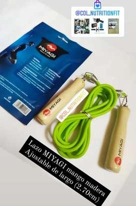 Lazos MIYAGI graduables (240cm) MANGO MADERA cuerda PVC