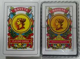 Baraja española x 50 cartas • Naipe 2D • Naveta 736 • cartón plastificado • Caja de Pasta cubierta de carton