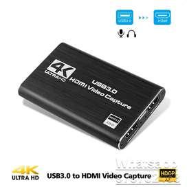CAPTURADOR DE VIDEO 4K HDMI A USB 3.0. GRABA TUS JUEGOS!, GRABA TODO DESDE CUALQUIER HDMI!