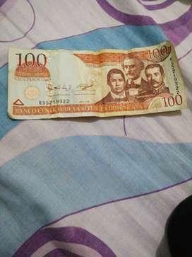 Billete 100 pesos de oro original
