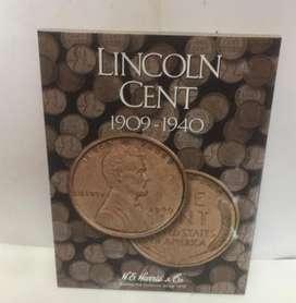 ALBUM COLECCIONADOR PARA MONEDAS DE 1 CENTAVO LINCOLN 1909 a 1940