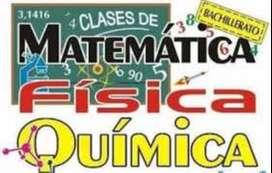 Clases de matemáticas, química y física a domicilio