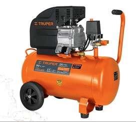 Compresor De Aire Lubricado 50 Litros 116 Psi Truper