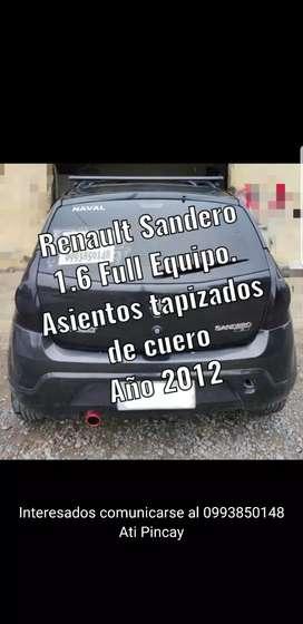 Renault Sandero 1.6 full equipo 2012 8mil negociable