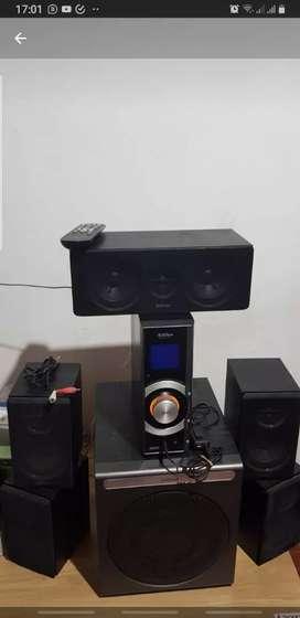 Sistema de Sonido 5.1 con deco Edifier HiFi c/remoto c/SD/USB/AUX/AURIC