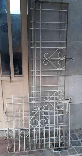vendo rejas con puerta para jardines o frentes