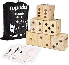 Ropoda - Juego de dados gigantes de madera para juegos al aire libre
