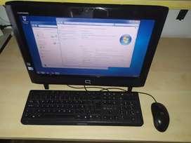 Vendo computador todo en uno Compaq Intel, Disco 500Gb, Ram 2Gb, Windows 7