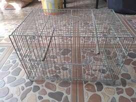 Jaula metalica de 40x25x28 para pajaros