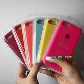 Silicone case y vidrios para celulares