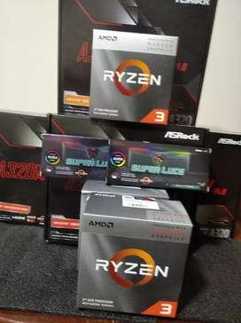 Combo Ryzen , 3200g , mother y 8 gb RGB