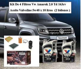 Kit de 4 Filtros Vw Amarok 2.0 Td 163cv