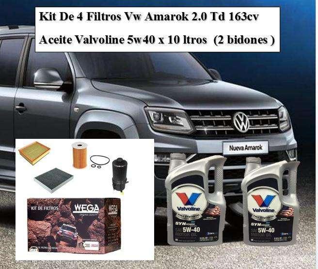 Kit de 4 Filtros Vw Amarok 2.0 Td 163cv 0