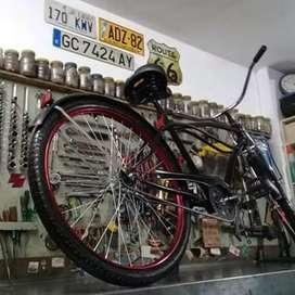 Bicicleta suspensión larga 26