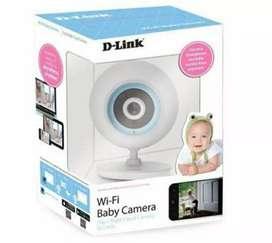 Cámara IP para bebés dlink dcs-820l Wifi visión nocturna 2 vías sd