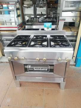 Cocina de 6q semindustrial más horno