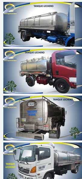 Carro tanque para el transporte de leche