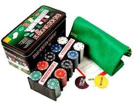 Texas Hold Em 200 Fichas Set De Poker Profesional Juego Poke