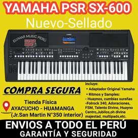 YAMAHA PSR SX-600  CON ADAPTADOR ORIGINAL