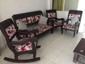 Sala Rustica 4 Muebles