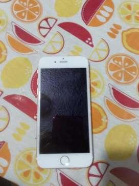 Iphone 6s de 16gb desbooqueado libre de cuentas y de todo mal detalle la huella digital no funciona por la actualizacion