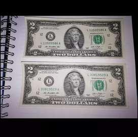 Billete de 2 dolares (2013)