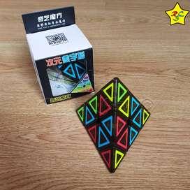 Cubo Rubik Pyraminx Cobra Ciyuan Cube Qiyi 3x3 Tiled Negro