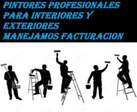 PINTORES PARA INTERIORES Y EXTERIORES PERSONAL CAPACITADO