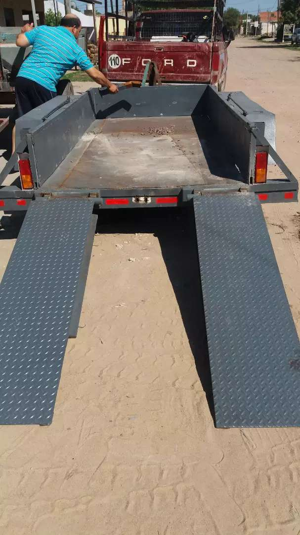 trailer 2 de 4 rueda reforsodo para 4000 kilo 0