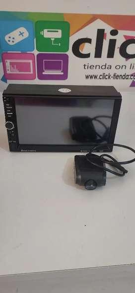 Radio MP5 bluetooth Mirrorlink USB pantalla 7 pulgadas con cámara delantera Audio 60x4