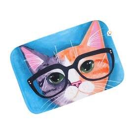 Tapete antideslizante Multiusos de gato hipster, alfombra para baño
