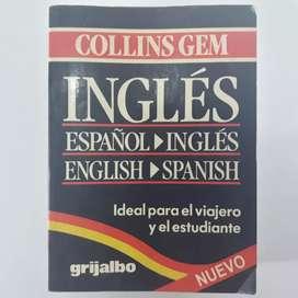 """Diccionario ingles español de bolsillo """" collins gem"""""""