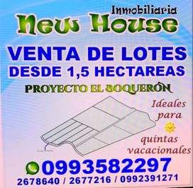 Terrenos de màs de una hectàres ideales para  quintas vacacionales en la vìa principal a Cariamanga