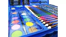 Set de 168 piezas para dibujar azul unisex