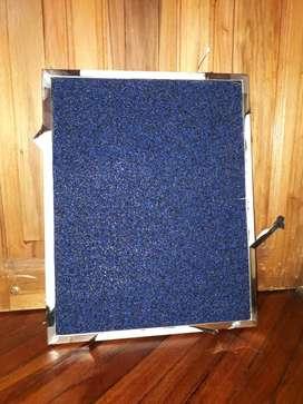 Bandeja de acero inoxidable mas alfombra industrial
