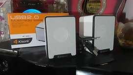 PARLANTES  KISONLI  USB  2.0    MULTIFUNCIONAL PC  CELULAR Y  TABLET   3 MESES  DE  GARANTIA