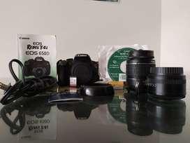 Camara Canon T4i Con 2 Lentes