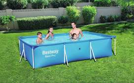 Piscina Desmontable Tubular Infantil Bestway Deluxe Splash Frame Pool 300x201x66 cm  S/350