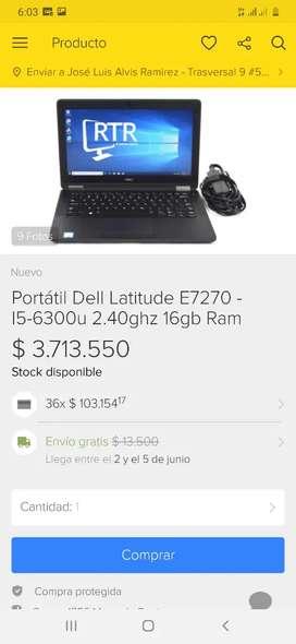 Vendo o cambio Dell Latitude E7270 equipo corporativo de alto rendimiento core i5 6 generación leer